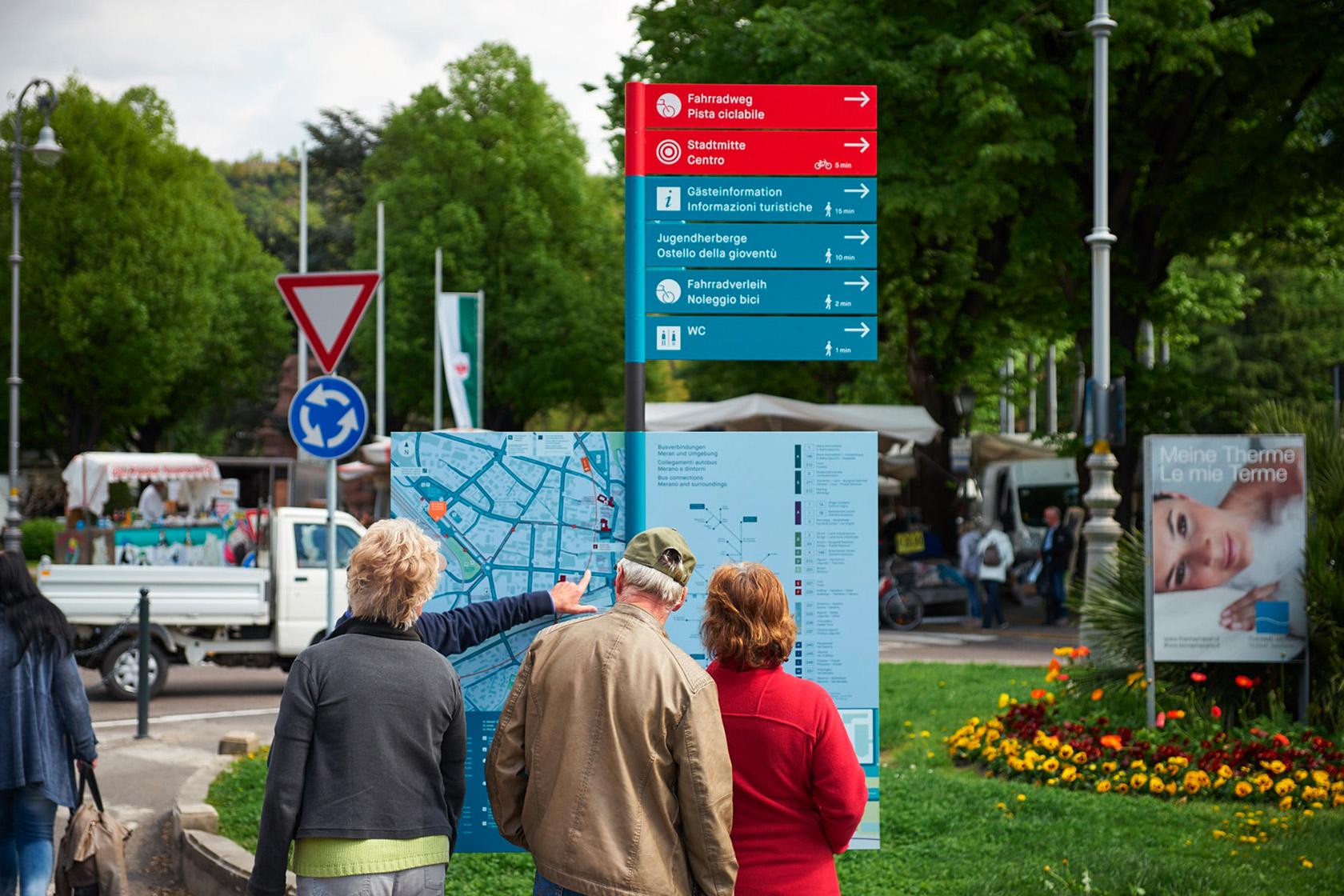 Sistema di segnaletica per la città di Merano – Lupo Burtscher